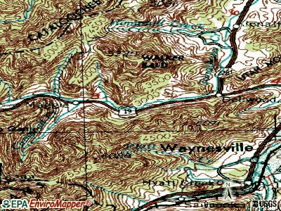 Maggie Valley topographic map