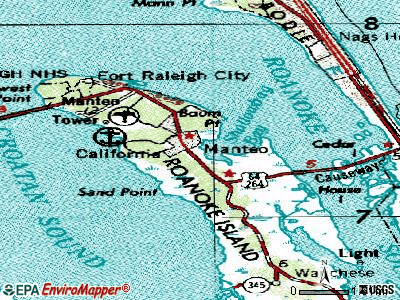 Manteo topographic map
