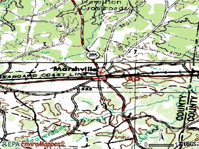 Marshville topographic map