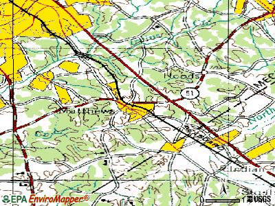 Matthews topographic map