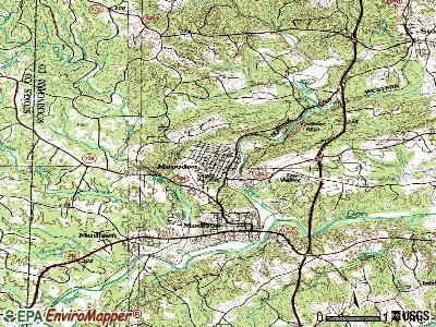 Mayodan topographic map