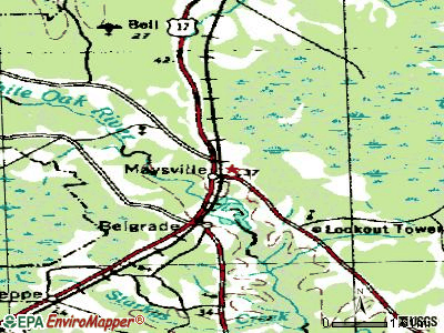 Mebane topographic map