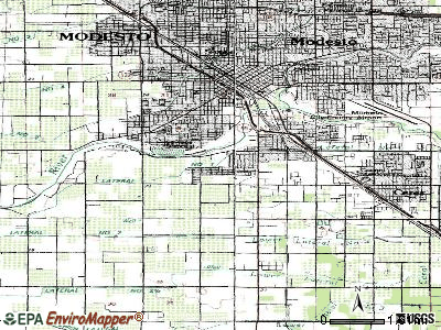 Bret Harte topographic map