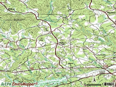 Millers Creek topographic map