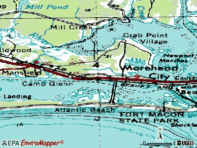 Morehead City topographic map