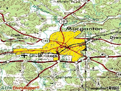 Morganton topographic map