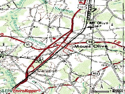 Mount Olive topographic map