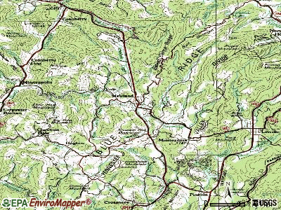 Newland topographic map