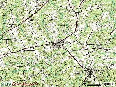 Norlina topographic map