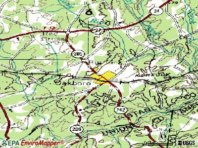 Oakboro topographic map