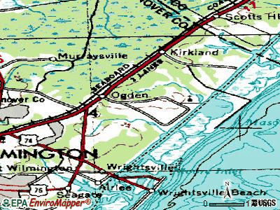Ocracoke topographic map
