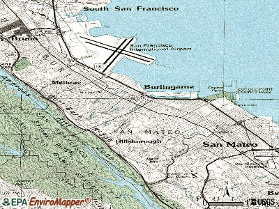 Burlingame topographic map