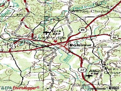 Ramseur topographic map