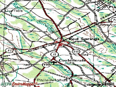 Red Springs topographic map