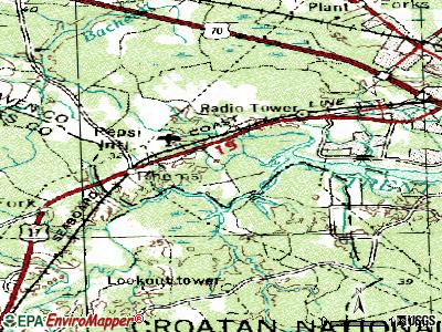 River Bend topographic map