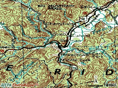 Roper topographic map