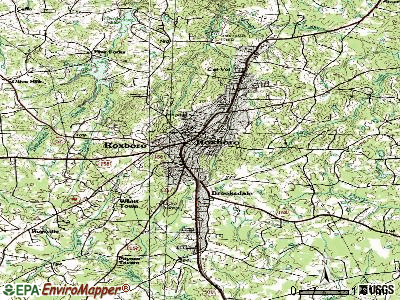 Roxboro topographic map