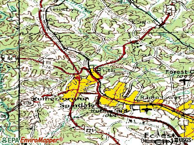 Ruth topographic map