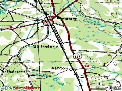 St. James topographic map