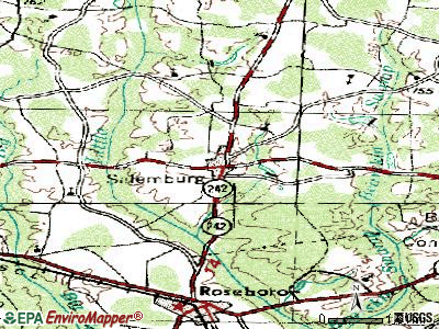 Salemburg topographic map