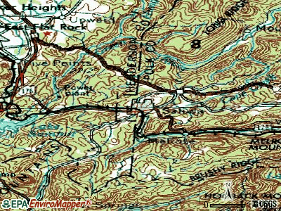 Saluda topographic map
