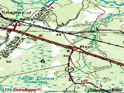Sandy Creek topographic map