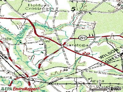 Saratoga topographic map
