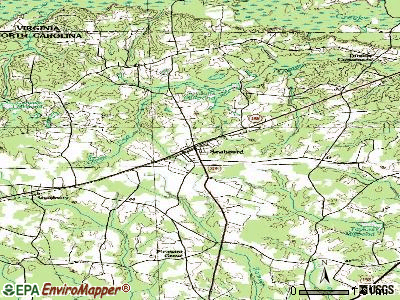 Seaboard topographic map