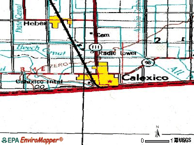 Calexico topographic map