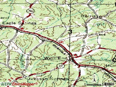 Seven Lakes topographic map