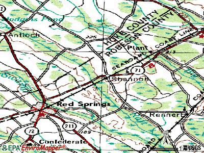 Shannon topographic map