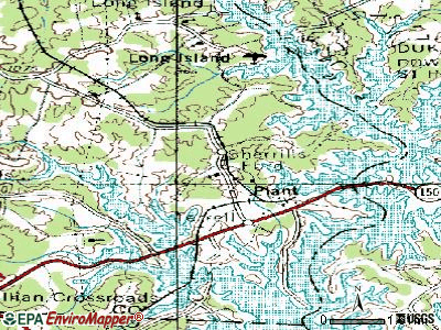 Sherrills Ford topographic map