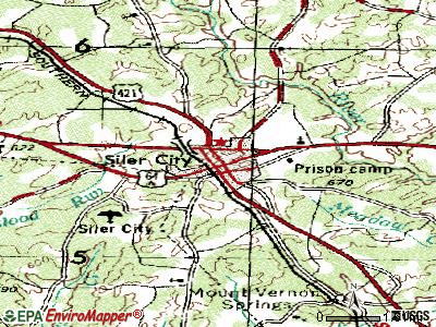 Siler City topographic map