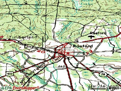 Silver City topographic map