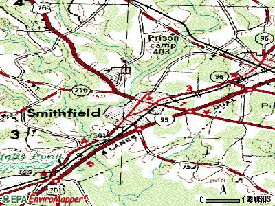 Smithfield topographic map