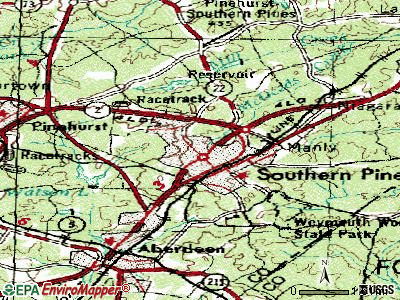 Southern Pines topographic map