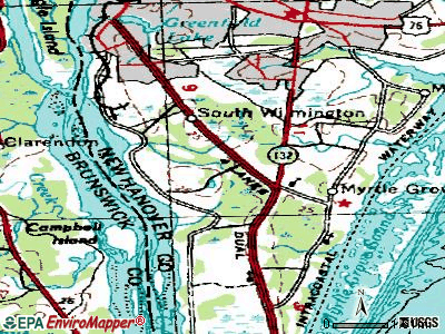 South Gastonia topographic map