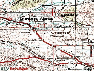 Calimesa topographic map