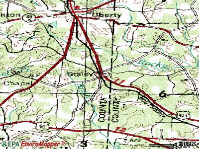 Staley topographic map