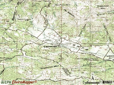 Calistoga topographic map