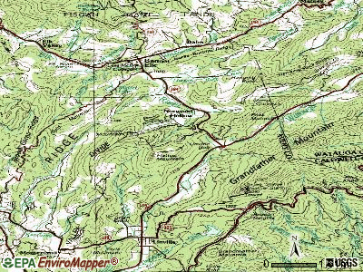Sugar Mountain topographic map