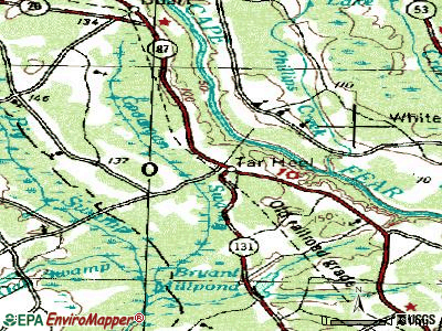 Swepsonville topographic map
