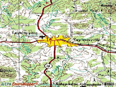 Sylva topographic map