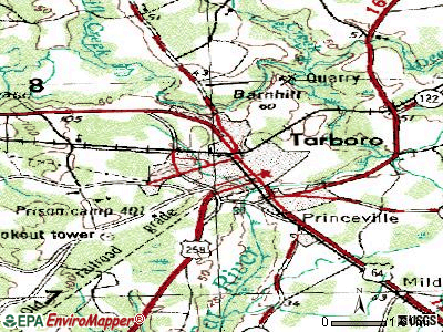 Tarboro topographic map
