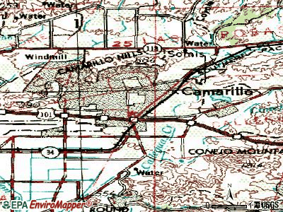 Camarillo topographic map