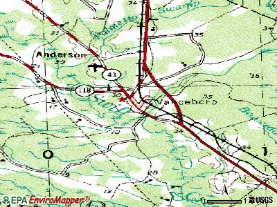 Vanceboro topographic map