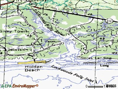 Varnamtown topographic map