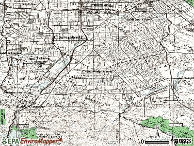 Cambrian Park topographic map