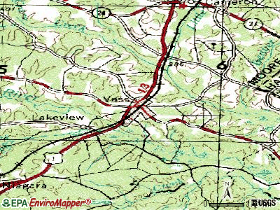 Wake Forest topographic map