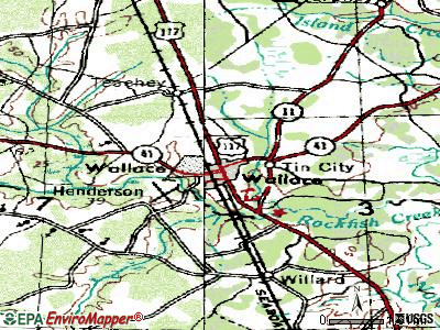 Wallace topographic map